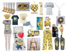 """I love minions"" by rabaudlisa on Polyvore featuring Disney, George, Havaianas, SJYP, Casetify and JEM"