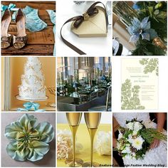 Green and Gold Winter Wedding | Winter Wedding Color Palette