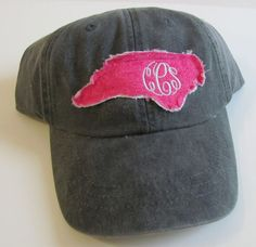 North Carolina Monogrammed Baseball Cap Personalized Hat Bridesmaid Birthday Gift  I found a monogram Klay would approve of!