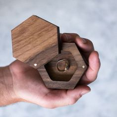 Rustic Ring Box - Geometric | Darby Smart
