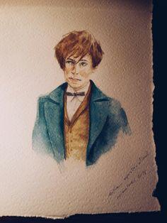 Newt Scamander, illustration by Erika Esposito-Albini