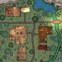 Crossroads Settlement 30x40 - battlemaps