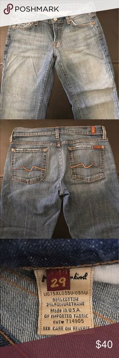 Seven for all mankind jeans Long boot cut seven for all mankind jeans. Lightly worn. 7 For All Mankind Jeans Boot Cut