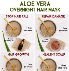 Overnight Aloe Vera Hair Masks - The Little Shine
