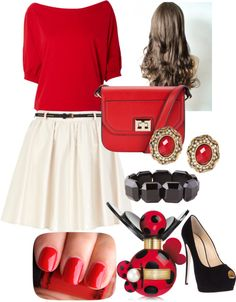 """Valentine's Day Outfit #1"" by tanvi-yeccaluri ❤ liked on Polyvore"