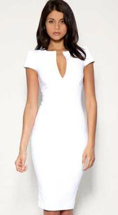 Little White Dress. perfect for summer months.