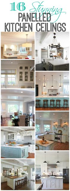 Limitless Design & # Contest 16 stunning panelled kitchen ceilings at The Happy Housie Kitchen Redo, Kitchen Remodel, Kitchen Ideas, Kitchen Island, Küchen Design, House Design, Interior Design, Beautiful Kitchens, Home Projects