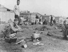 Camp survivors after liberation.