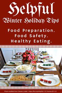 Helpful winter holiday tips: Food Preparation. Food Safety Tips, Food Tips, Food Ideas, Eating Organic, Food Facts, Celebration Cakes, Food Preparation, Junk Food, Safe Food
