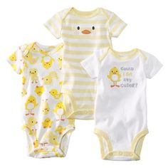 JUST ONE YOU ™ Made by Carter's ® Infant Boys' 3-Pack Bodysuit -Yellow $7.99