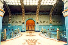 Budapest | Gellért Thermal Baths with Zsolnay ceramics & tiles. view on Fb https://www.facebook.com/BudapestPocketGuide  credit: BTH #budapest #zsolnay #ceramics