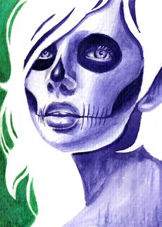 Minipainting Day of the Dead 3 by misscarissarose.deviantart.com on @deviantART