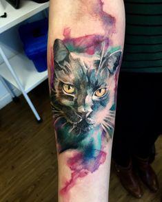 "552 Likes, 5 Comments - FranL Tattoo (@francisco_lim) on Instagram: ""Gatinho  #InstaSize #support_good_tattooers #tattoo #franltattoo #electricink #sketch #tattoo #art…"""