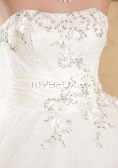 Vestido de novia con de Organdí abalorio €182.99