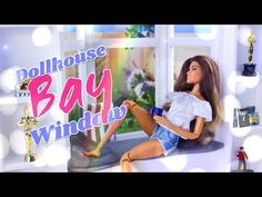by request: Get your Craft on this Wednesday with Froggy! Create this stunning one of a kind Dollhouse Bay window area for your Dolls today! Barbie Dolls Diy, Barbie Doll House, Barbie Dream, Barbie Stuff, Barbie Clothes, Doll Stuff, Barbie Barbie, Girls Dollhouse, Diy Dollhouse