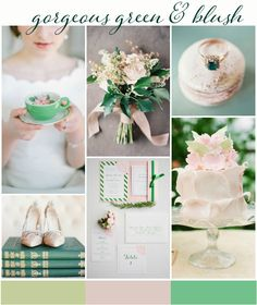 gorgeous green and blush wedding inspiration: colour ideas wedding colors september / fall color wedding ideas / color schemes wedding summer / wedding in september / wedding fall colors Blush Wedding Colors, Wedding Color Schemes, Blush Bridal, Wedding Themes, Wedding Cards, Wedding Ideas, Wedding Stuff, September Wedding Colors, Wedding Guest List