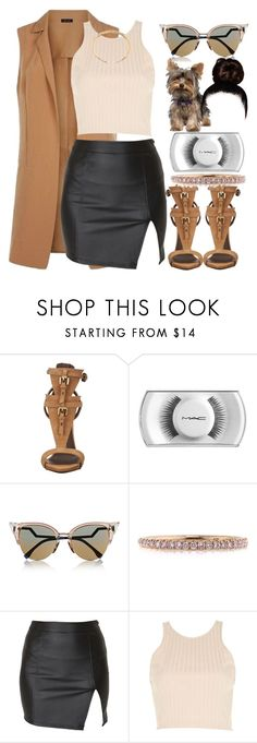 """""""When we ride we ride is till the day we die"""" by thaofficialtrillqueen ❤ liked on Polyvore featuring Giuseppe Zanotti, MAC Cosmetics, Fendi, Mark Broumand, Alice In The Eve, River Island and Chloé"""