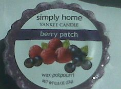 Berry Patch Simply Home, Small Candles, Wax Tarts, Candle Wax, Pie Dish, Berry, Bury