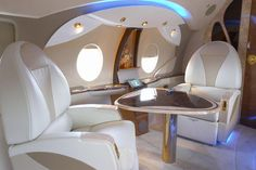 private jet.... Slightly more comfy than in coach for a multi-hour flight...