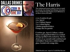 Dallas Drinks: The Harris - A potent, sophisticated, gin-based drink inspired by the Ewing's newest formidable adversary.