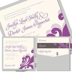 Plume Square Clutch signature pockets invitation