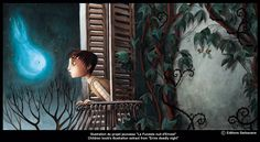 Benjamin Lacombe  Children book's illustration extract from  Ernie deadly night
