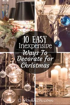 Looking for some easy and cheap ways to decorate for Christmas? Try these budget-friendly Xmas decorating ideas that will add holiday spirit to your house. Christmas On A Budget, Christmas Decorations For The Home, Christmas Tablescapes, Christmas Centerpieces, Xmas Decorations, Cheap Christmas, How To Decorate For Christmas, Wall Christmas Tree, Christmas Home