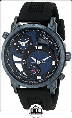 Stuhrling Original 681.02 - Reloj de cuarzo para hombre, correa de goma color negro de  ✿ Relojes para hombre - (Gama media/alta) ✿