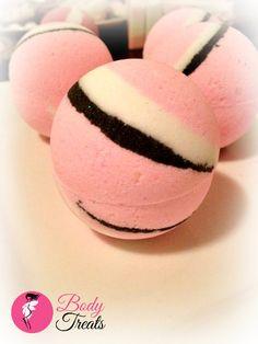 Pink Neapolitan Bath Bomb Fizzy - Handmade Bath and Body - Bath Soak - Vegan - 4oz