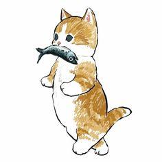 Art Inspo, Kunst Inspo, Inspiration Art, Art And Illustration, Cat Illustrations, Cute Animal Illustration, Art Du Croquis, Art Mignon, Cat Drawing