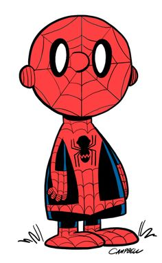 Marvel According to Peanuts: Charlie Brown as Spider-Man by Brad Campbell