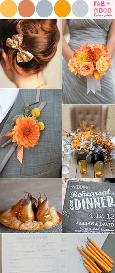 Marigold & grey wedding inspiration | fabmood.com