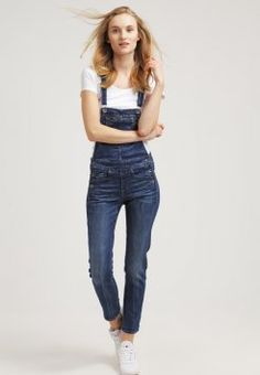 G-Star - MIDGE SLIM OVERALL - Snekkerbukse - brantley stretch denim