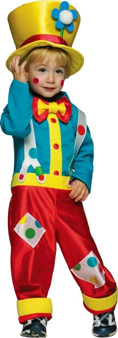 Toddler Boys Clown Costume - Career Costumes - Toddler Boys Costumes - Baby, Toddler Costumes - Halloween Costumes - Categories - Party City