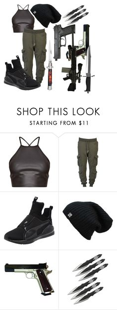 """""""Felicity"""" by the-mad-hattess on Polyvore featuring Off-White, Puma, RIFLE and Whetstone Cutlery"""