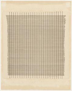 Agnès Martin est née en 1912 à Saskatchewan au Canada. La majeure partie de son travail se compose de grilles carrées. Bien que minimaliste dans la forme, ces peintures s'écartent de l'intellectualisme, fréquent dans les démarches minimalistes, au profit d'une approche personnelle et spirituelle.  Ses compositions «expressionnisme abstraite» utilisaient essentiellement le noir, blanc, et le brun.
