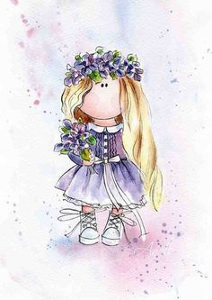 33 Best Ideas For Children Illustration Girl Dolls Illustration Noel, Ink Illustrations, Model Sketch, Baby Posters, Dibujos Cute, Country Paintings, Baby Girl Blankets, Baby Art, Cute Images