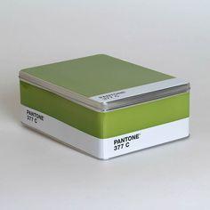 PANTONE STORAGE TIN- GREEN $22