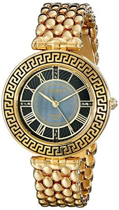 Women's Wrist Watches - Akribos XXIV Amazon Exclusive Womens AK808YG GoldTone Watch -- You can get additional details at the image link.