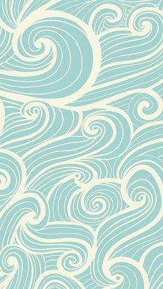 iphone wallpaper blue waves - pattern