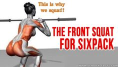 The Front Squat For Sixpack