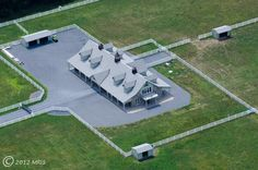 Maryland stable - like the paved, fenced area around the barn & the outbuilding at 11:00 for tractor, etc storage