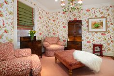 Pink & Green Master suite sitting room #Hoboken