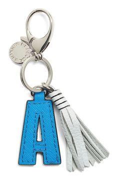 Rebecca Minkoff Initial Bag Charm V- bright Fuschia at Norstrom Leather Accessories, Handbag Accessories, Diy Bag Charm, Leather Carving, Leather Flowers, Leather Keychain, Small Leather Goods, Key Fobs, Leather Tassel