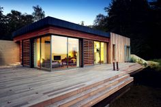 Small wood house design small wooden house tiny home small wooden Modern Wood House, Wood House Design, Small Wooden House, Modern Tiny House, Tiny House Design, Wooden Houses, Modern Bungalow, Timber House, Small Houses