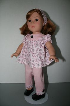 American Girl Doll ClothesPink Print Blouse by KathiesDollCloset, $9.99