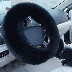 New Winter Warm Style Steering Wheel Cover Woolen Comfy Super Soft Protector Inner Rubber Ring Winter Stretch Hubs Cover Interior Accessories, Car Accessories, Car Steering Wheel Cover, Car Covers, My Dream Car, Plush, Comfy, Fur, Wool
