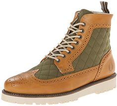 Fred Perry Men's Northgate Quilted Canvas Boot