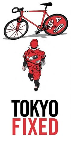 Tokyo fixed gear - Akira style Fixi Bike, Fixed Gear Bicycle, Bicycle Art, Cycling Art, Cycling Bikes, Track Cycling, Bici Fixed, Bike Messenger, Bike Illustration