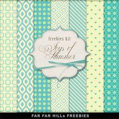 New Freebies Backgrounds Kit - Joys of Summer